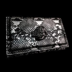 Brush bag silver snake
