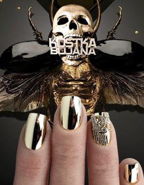 Kostka Extreme nail art
