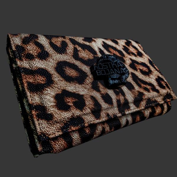 Brush bag leopard